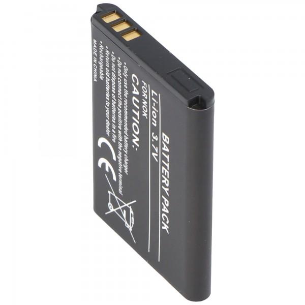 AccuCell Akku passend für Nokia 6120, BL-5B, 720mAh
