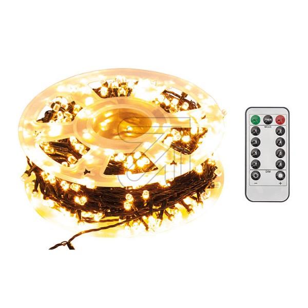 LED-Lichterkette 500er LED bernsteinfarben, LED-Microlichterkette, für Innen- und Außenbereich geeignet, inklusive IR-Fernbedienung