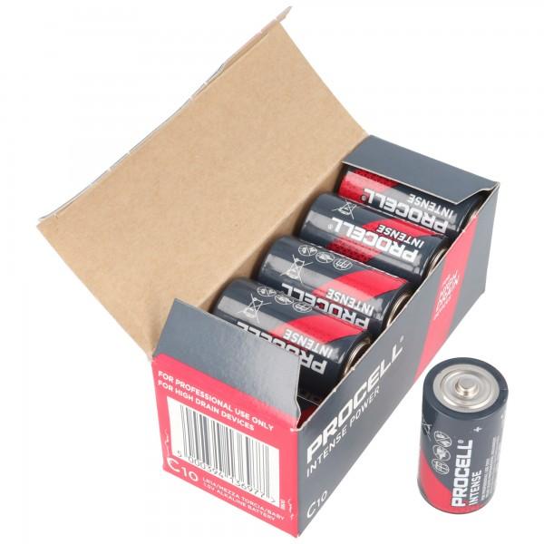 10 Stück Duracell Procell Intense Baby C, LR14 im Karton, für energieintensive Geräte