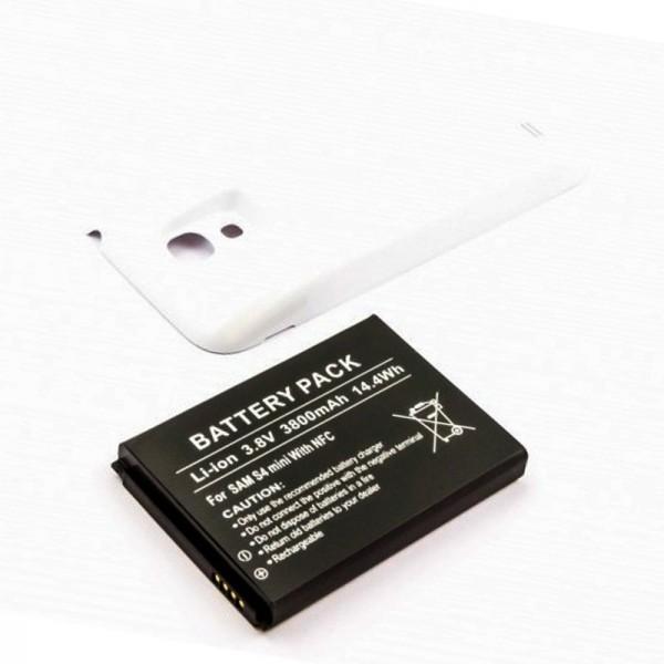Samsung Galaxy S4 Mini Nachbau Akku Galaxy S4 Mini, Samsung GT-I9195 3800mAh mit Deckel weiß