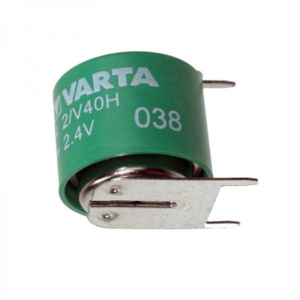 Varta 2/V40H NiMH Akku aufladbare NiMH Knopfzelle mit 3er Print Kontakten