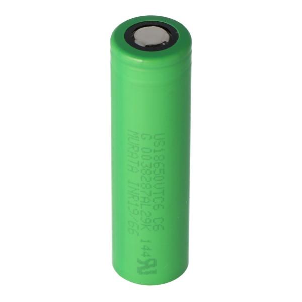 Sony Konion US18650VTC6 Akku 65,2x18,35mm für E-Zigarette und E-Shisha 3,6 Volt min. 3000mAh typ. 3120mAh maximal 30A Stromabgabe