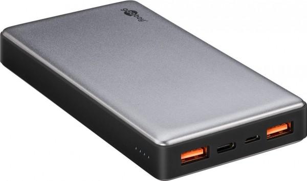 Quickcharge Powerbank mit 15000mAh, Schnellladefunktion und 2mal 3A USB-Ladeausgang