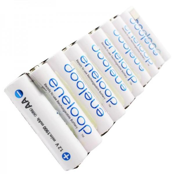 Panasonic eneloop Standard 12 Volt AkkuPack mit bis zu 2000mAh, mit Lötfahnen
