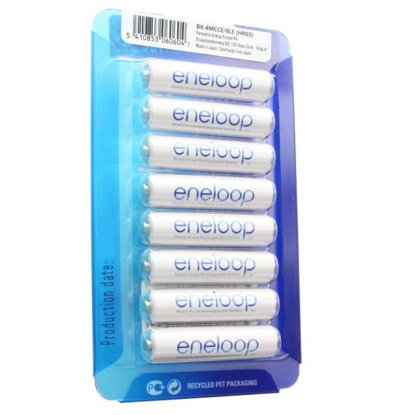 Panasonic eneloop Standard (ehem. Sanyo eneloop Standard) HR-4UTGB Case AAA Micro-Akku 8er Pack mit 2x AccuCell Case blau