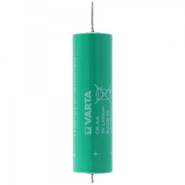 Varta CR AA Lithium Batterie mit Axial Draht passend für Wärmezähler