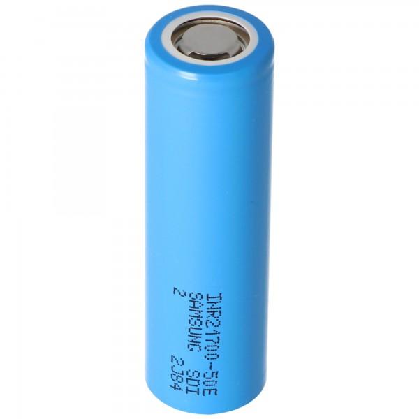 Samsung INR21700 50E 5000mAh max. 15A 3,6-3,7 Volt Abmessungen 21,25x70,8mm