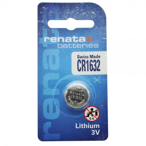 Renata CR1632 Lithium Batterie 3 Volt 137mAh IEC CR1632, Batterie für Garmin vivofit 3
