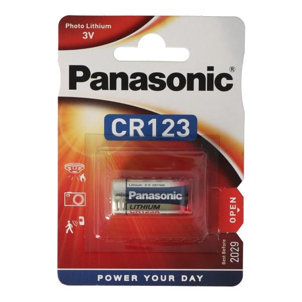 CR123A Panasonic Batterie Photo Lithium CR123
