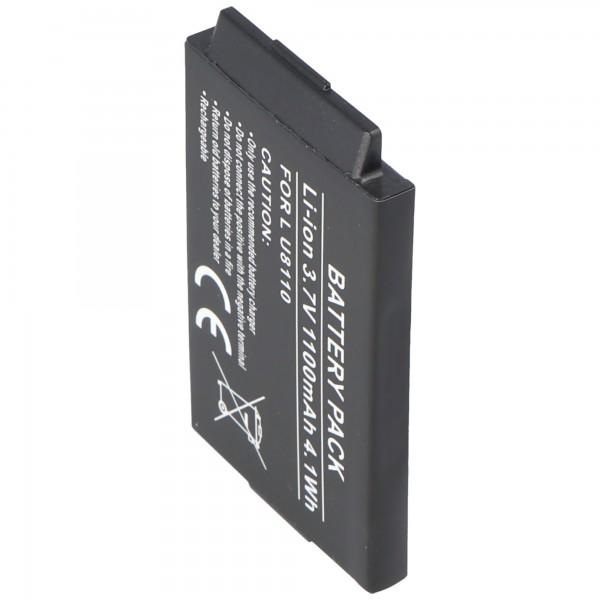 AccuCell Akku passend für LG U8380, LGBSL-41G, 1000mAh