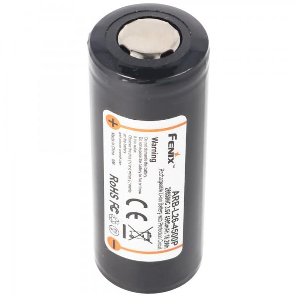 Akku für Fenix PD40R Led-Taschenlampe Fenix ARB-L26-4500P, 26650 Li-Ion Akku geschützt 4500mAh