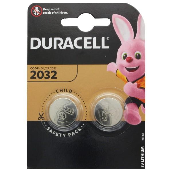 Duracell CR2032 Lithium Batterie 3 Volt mit bis zu 180mAh Kapazität 2er Blister
