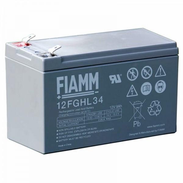 Fiamm 12FGHL34 Blei Akku 12 Volt 9000mAh mit Faston 6,3mm Kontakten