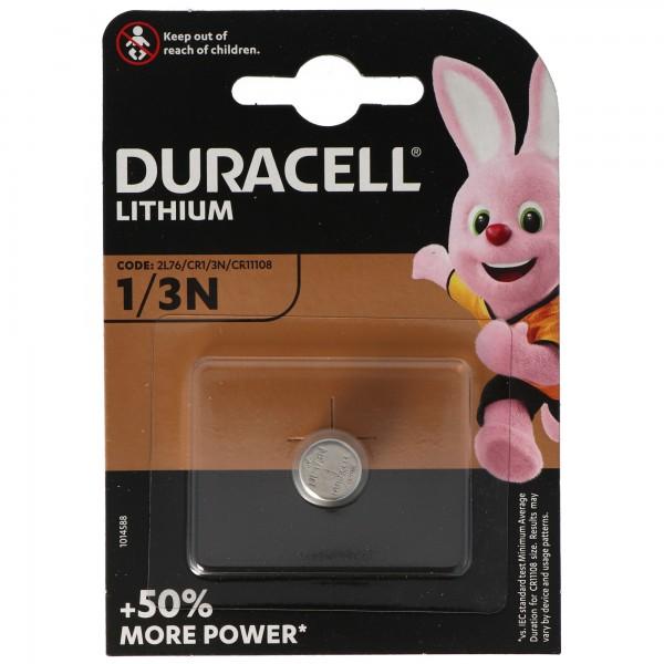 Duracell DL1/3N Photo Lithium Batterie CR1/3N, 2L76, CR-1/3 N, CR11108, DL1/3N