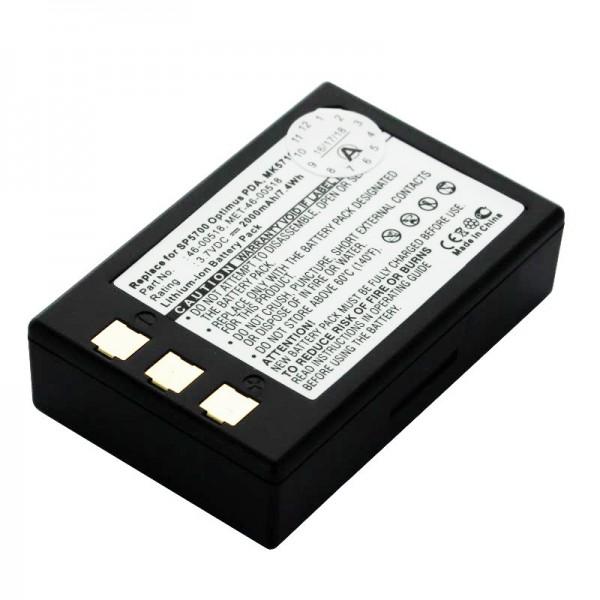 Akku passend für Metrologic SP5700 Scanner, Optimus PDA, MK5710 Akku 46-00518, MET-46-00518