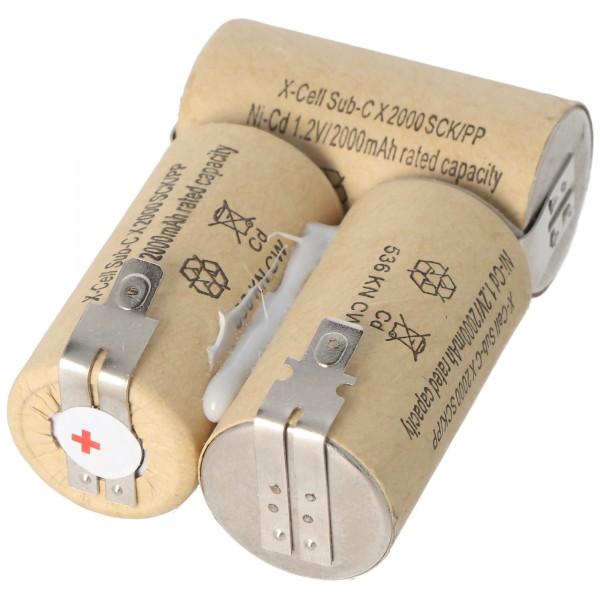 AccuCell Akku passend für Hand-Staubsauger 3,6 Volt FASTON 4,8 mm