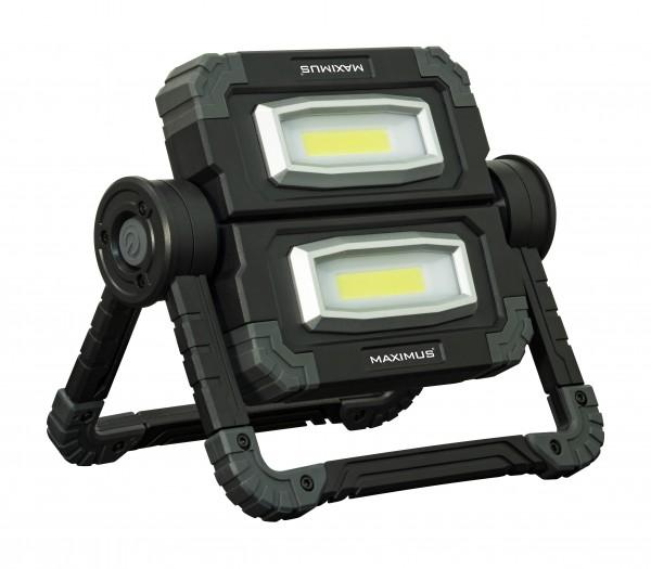 LED Arbeitsleuchte, LED Worklamp mit 1000 Lumen, 2x 10W COB LEDs, ideal für Autoreparaturen, Werkstatt, Camping, Angeln etc., inklusive Batterien