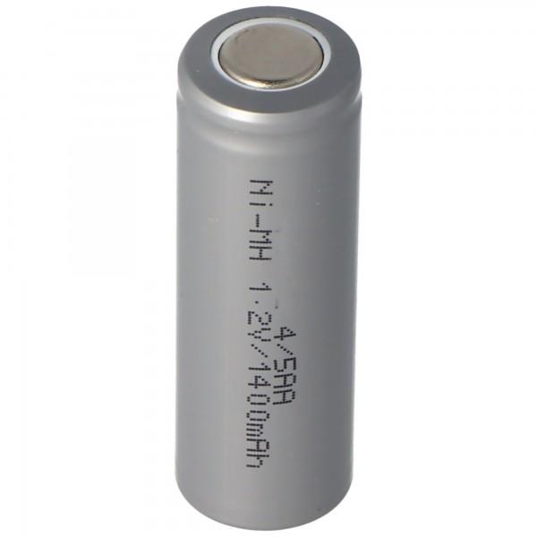 AccuCell NiMH Akku 1,2V 1400mAh 4/5AA ohne Lötfahne 43 x 14,5mm
