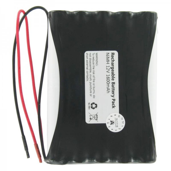 Nachbauakku als NiMH Ersatzakku für den Geze 12V AkkuPack mit Kabel