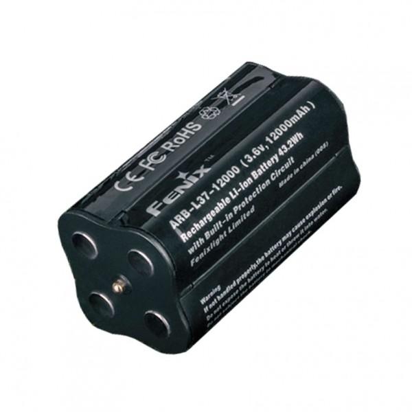 Akku passend für die Fenix LR40R LED Taschenlampe, Fenix ARB-L37-12000 LiIon Akkupack für LR40R