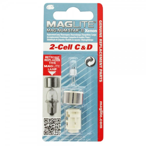 MAGLITE 2-Cell C & D Ersatzlampen MAGLITE, LWSA201, LWSA201E, 1 Stück