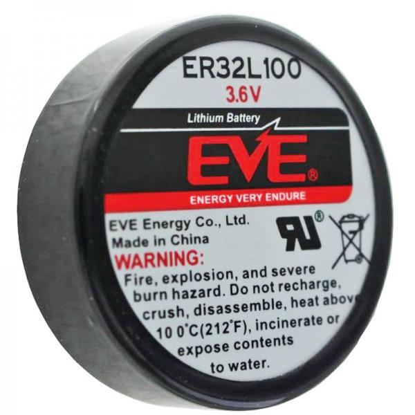 EVE ER32L100 Lithium Batterie 1/6 D Mono 3,6 Volt 1700mAh, 3er Print, E.V.E. ER32L100 1/6D 3,6V