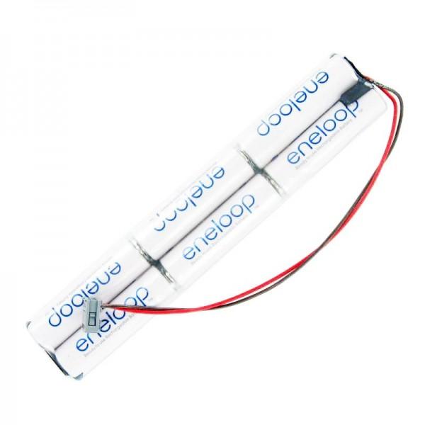 Sender Akkupack Panasonic eneloop Standard (ehem. Sanyo eneloop Standard) AA 6er 7,2/2000 MPX Stecker