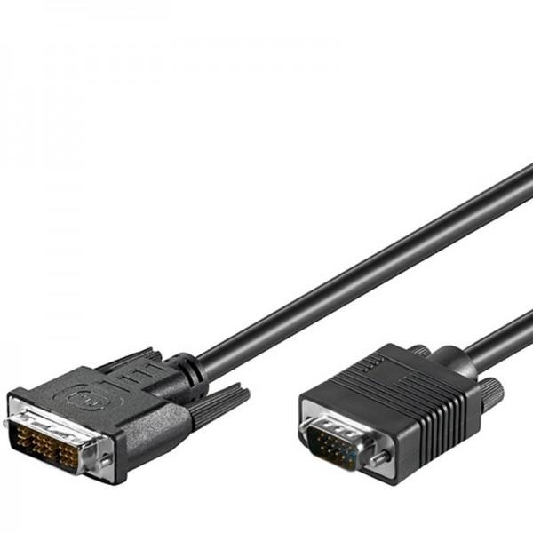 DVI-I/VGA FullHD Kabel zum übertragen von Videosignalen vom PC zum Monitor