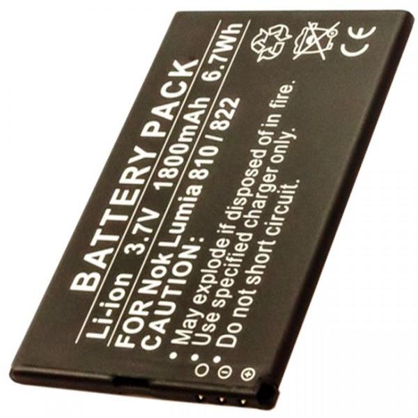 AccuCell Akku passend für den Nokia Lumia 810 Akku 822, Nokia Akku BP-4W