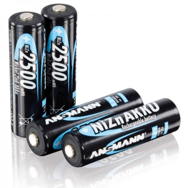 Ansmann Mignon LR06 AA NiZn Akku 1,6 Volt 2500mWh im 4er Set