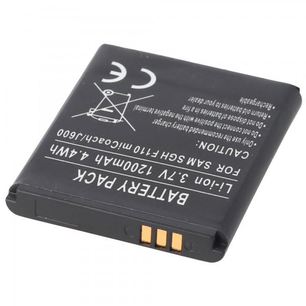 AccuCell Akku passend für Samsung SGH-J600, AB483640BECSTD
