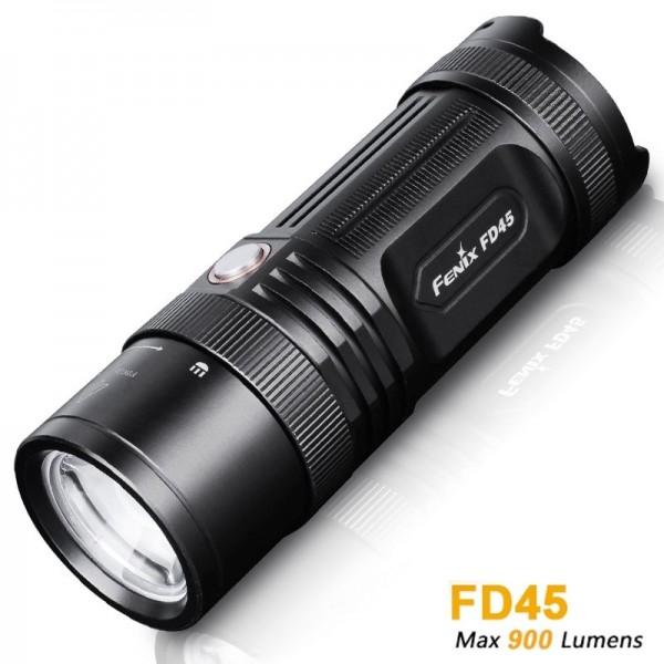 Fenix FD45 Cree XP-L HI neutral white LED Taschenlampe, 900 Lumen, mit Fokus