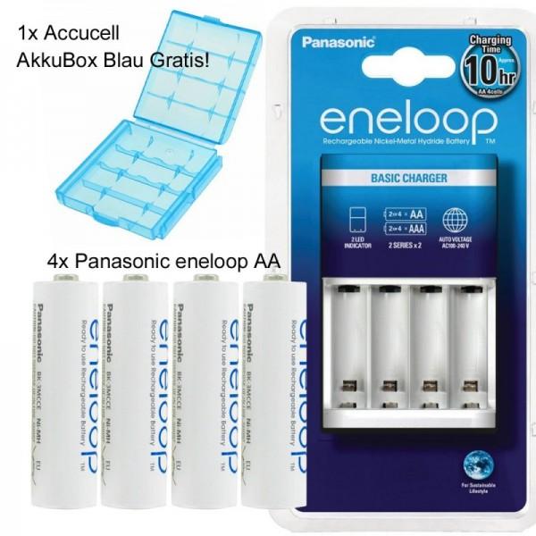 Panasonic eneloop Standardladegerät BQ-CC51H und 4 Stück eneloop Standard AA Akkus