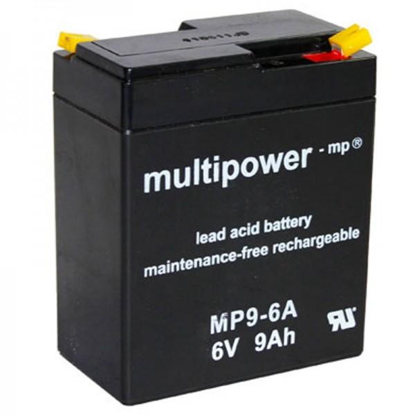 Multipower Blei-Akku MP9-6A, HPS-682F, FG10801, WP9-6A Akku
