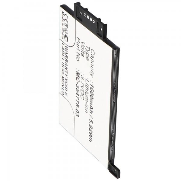 Akku passend für Amazon Kindle Paperwhite 2014, EY21, DP75SDI, 170-1056-00 3,7 Volt 1600mAh mit 4 Kontakten