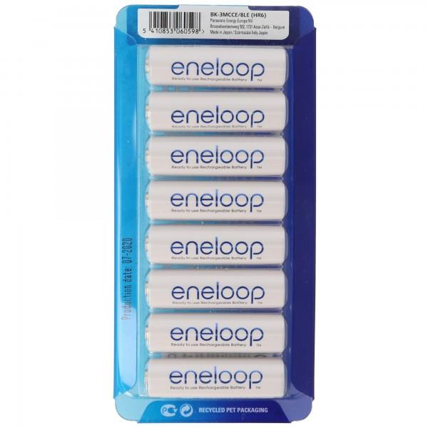 Panasonic eneloop Standard Mignon/AA HR-3UTGA 8er Pack, 2er AccuCell AccuBox