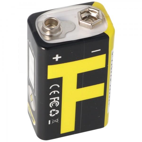 7,4 Volt 9V-Block 6LR61 6F22 7.4V 550mAh BMS geschützt mit USB Ladefunktion