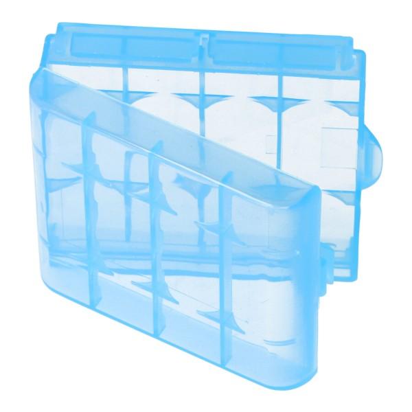 Universal AccuCell AccuSafe, Akkubox Aufbewahrungsbox Blau für AA/AA