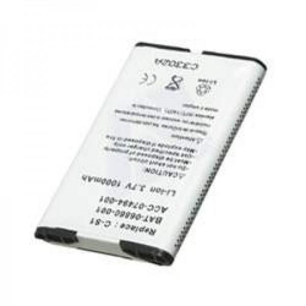 AccuCell Akku passend für Blackberry 7100, 1800mAh