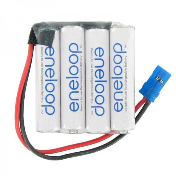 Empfänger Pack Panasonic eneloop Standard (ehem. Sanyo eneloop Standard) AAA 4er Reihe 4,8/800 Graupner