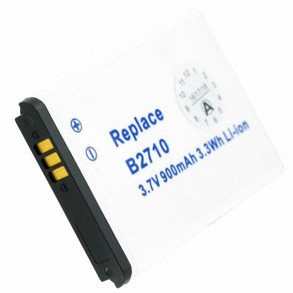 AccuCell Akku nur passend für Samsung GT-B2710, AB803446BU, Maße 49,4 x 34,0 x 5,8mm beachten