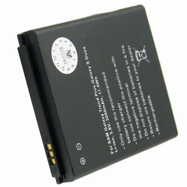 Akku nur passend für den Samsung Galaxy ACE 2, Samsung GT-I8160 Akku 3000mah mit Zusatzdeckel in weiß und dunkelblau