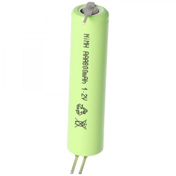 HR-AAAU NiMH Akku Micro AAA Flat Top mit 3-er Print unbedingt Abmessungen ca. 44x10,5mm beachten