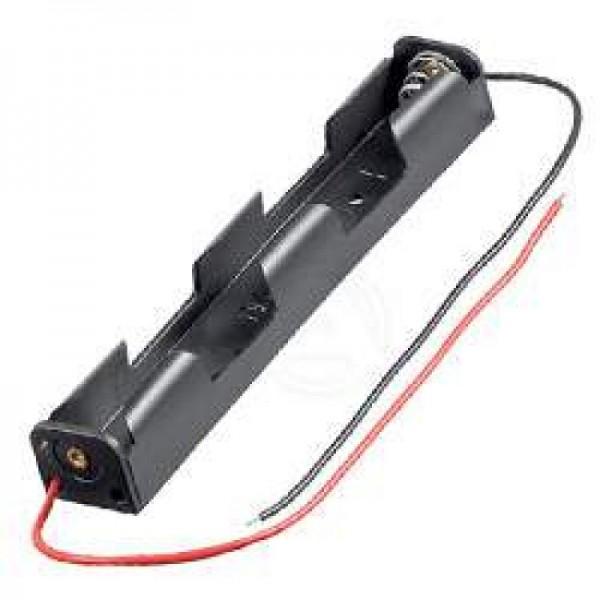 Batteriehalter für 2x Mignon AA LR6 Batterie mit Anschlusskabel