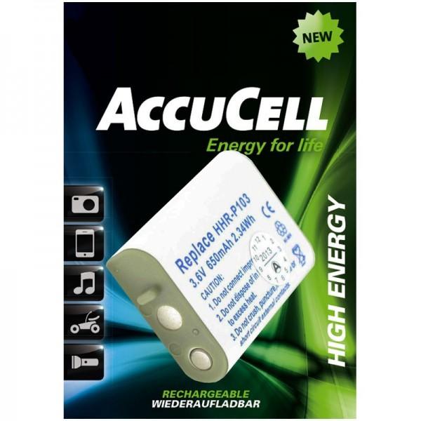 AccuCell Akku passend für Panasonic HHR-P103, GP T357, NT70AAAH X 3