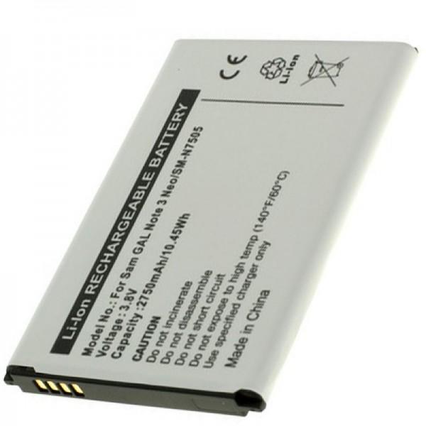 Samsung SM-N7505 Akku Galaxy Note 3 Neo als Nachbau Akku von AccuCell