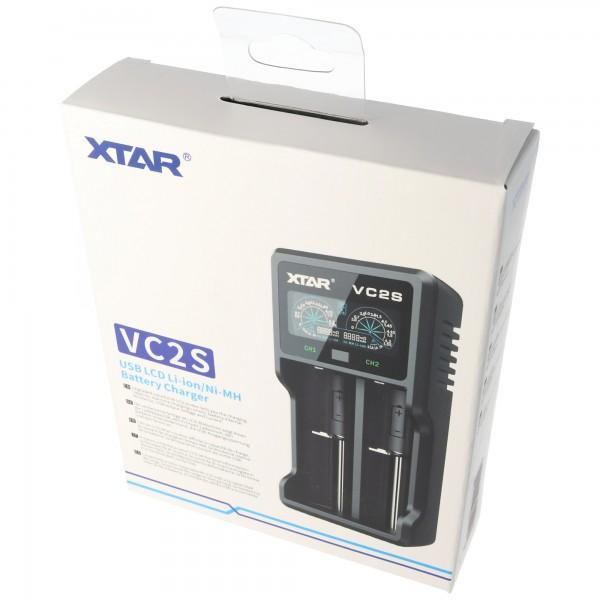 Xtar VC2S - Ladegerät für Li-Ion und NIMH Akku inklusive USB-Kabel