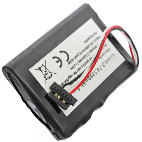 AccuCell Akku passend für Mitac Mio P350, P550, BP-LP1230