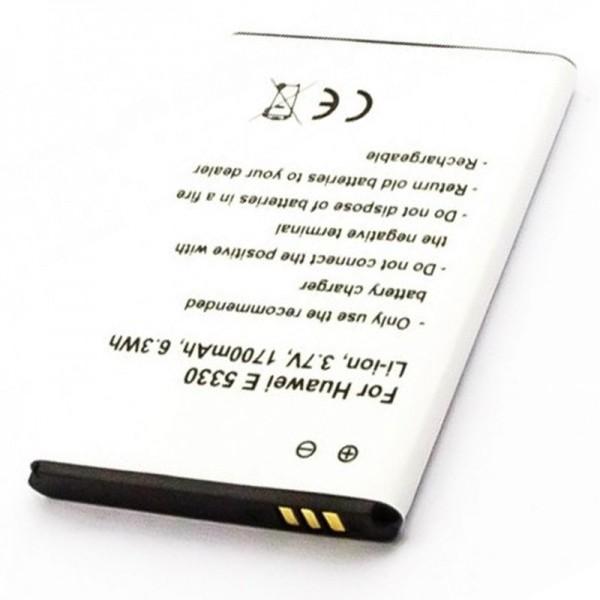 Akku passend für Huawei E5330, MEDION MDM9625, HB5F2H 3,7 Volt 1700mAh