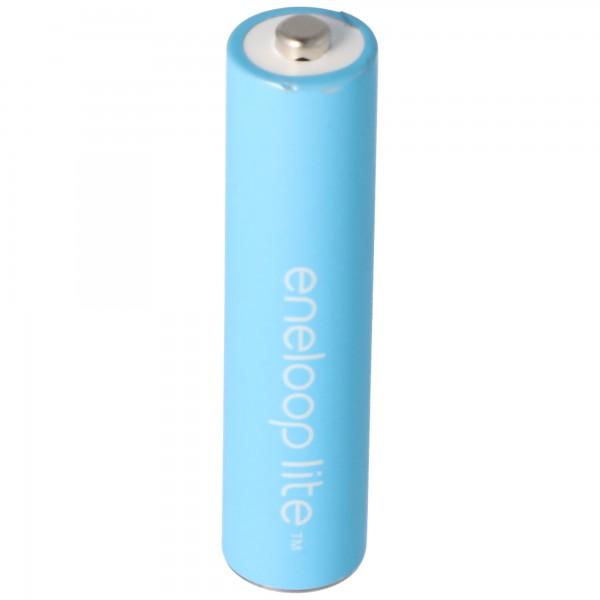 Panasonic eneloop Lite ehemals Sanyo eneloop Lite 1,2V NiMH Akku Micro AAA HR-4UQ 600mAh, 1 Stück